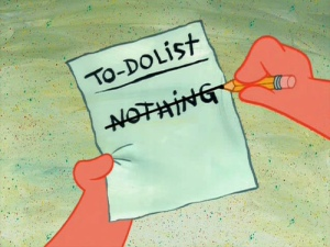 empty to-do list